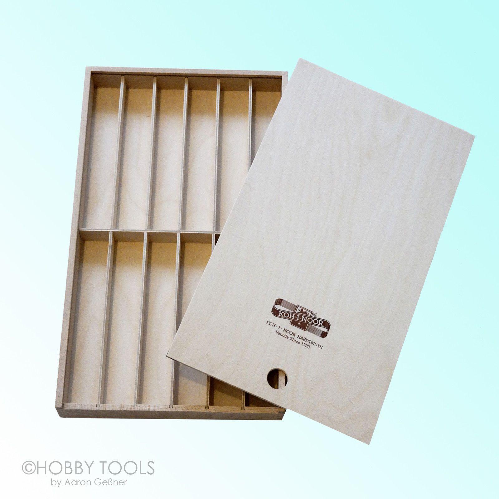 Schiebebox Holzkasten Stiftbox Holz Schachtel für Stifte Kassette