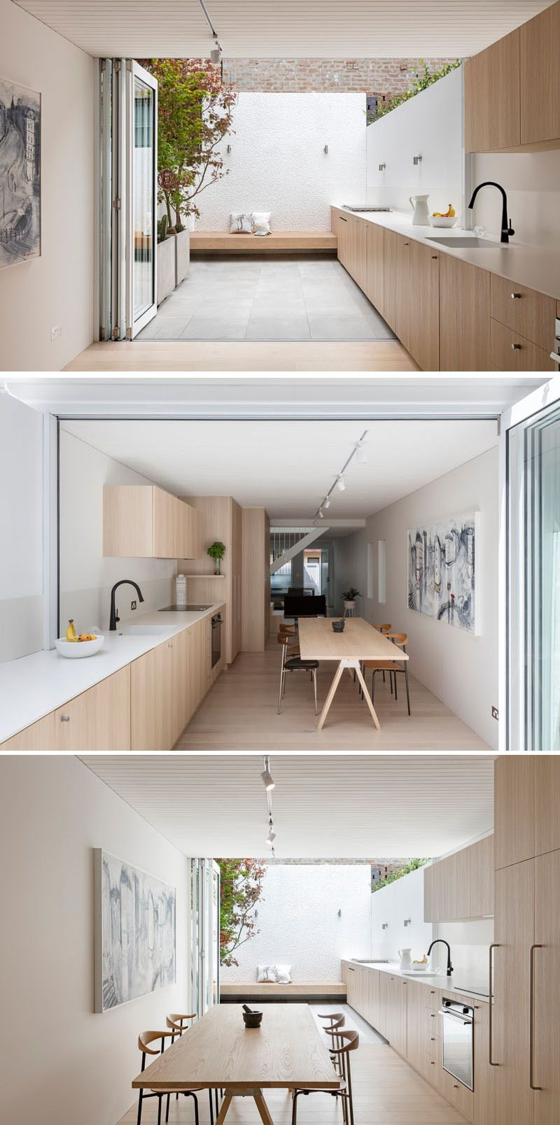 As part of an addition to  small house in sydney australia architecture firm benn penna designed kitchen that flows uninterrupted from the inside also rh pinterest