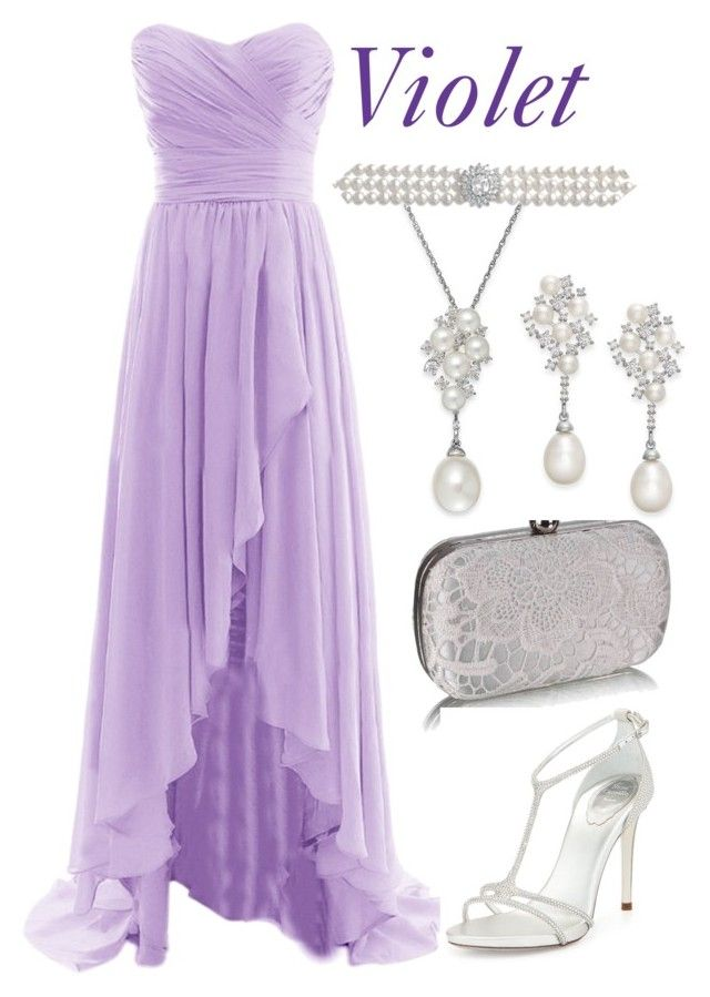 """""""Fairy Tales Formal: Violet"""" by becka-ramey ❤ liked on Polyvore featuring Arabella and René Caovilla"""