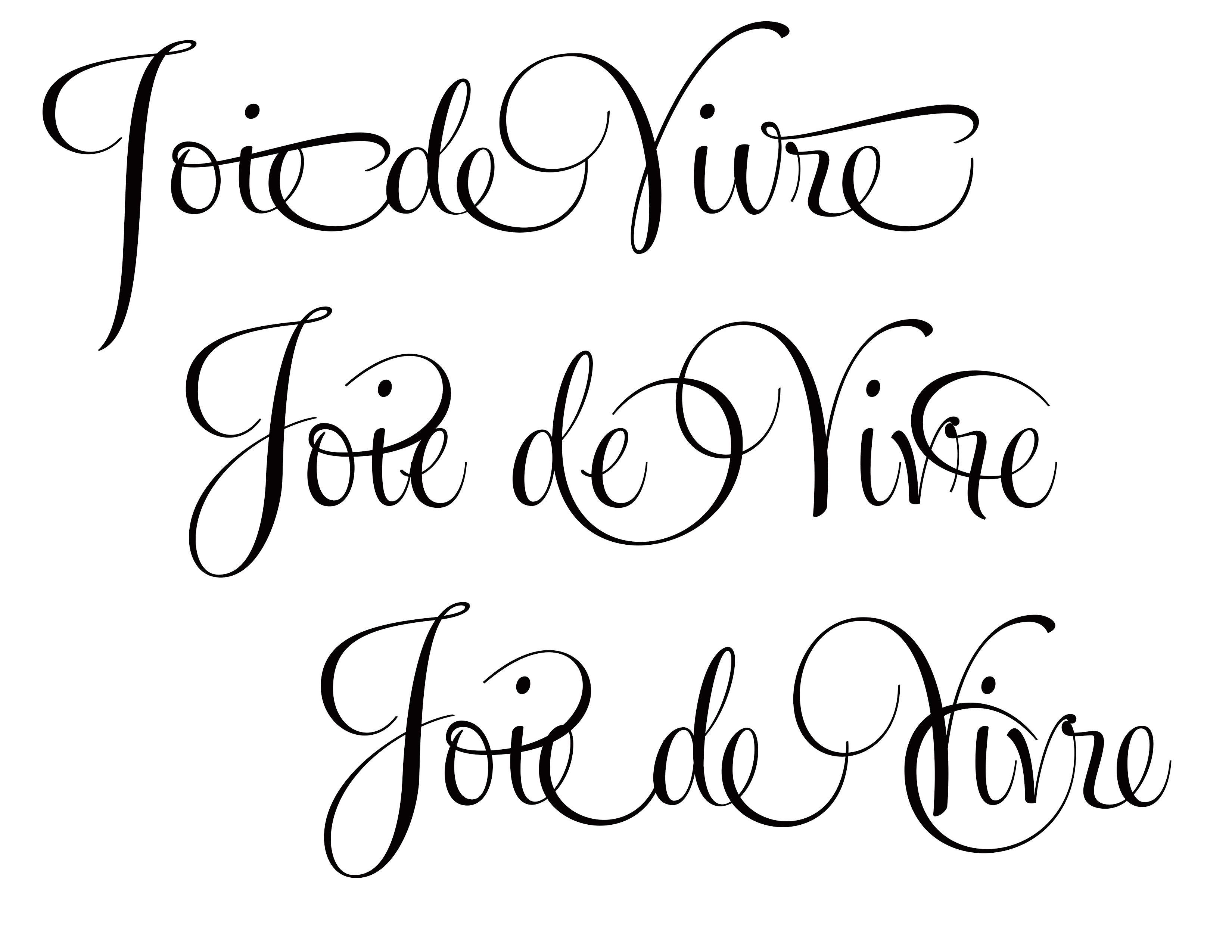 Joie de Vivre in Feel Script Font Viva-future ad design | For the ...