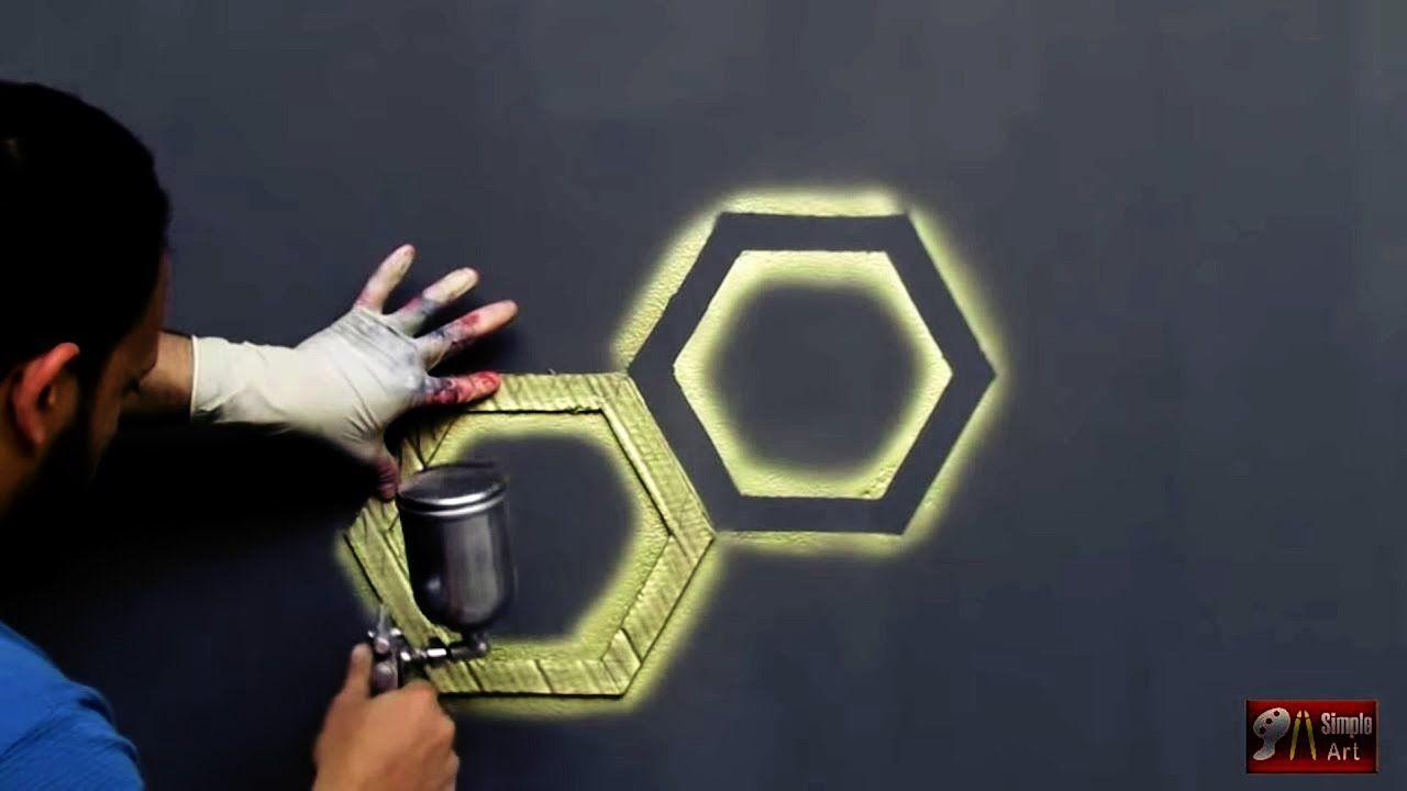 بقطعة كرتون اصنع بنفسك ديكور خلية النحل ثري دي 3d Hexagon Design Pintura De Parede 3d Pintura De Parede Parede 3d