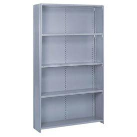 Closed Offset Angle Shelving 10 Heavy Duty Shelves 48 Wx18 Dx84 H Blue By Lyon Workspace Products 409 9 Shelves Kitchen Storage Organization Locker Storage