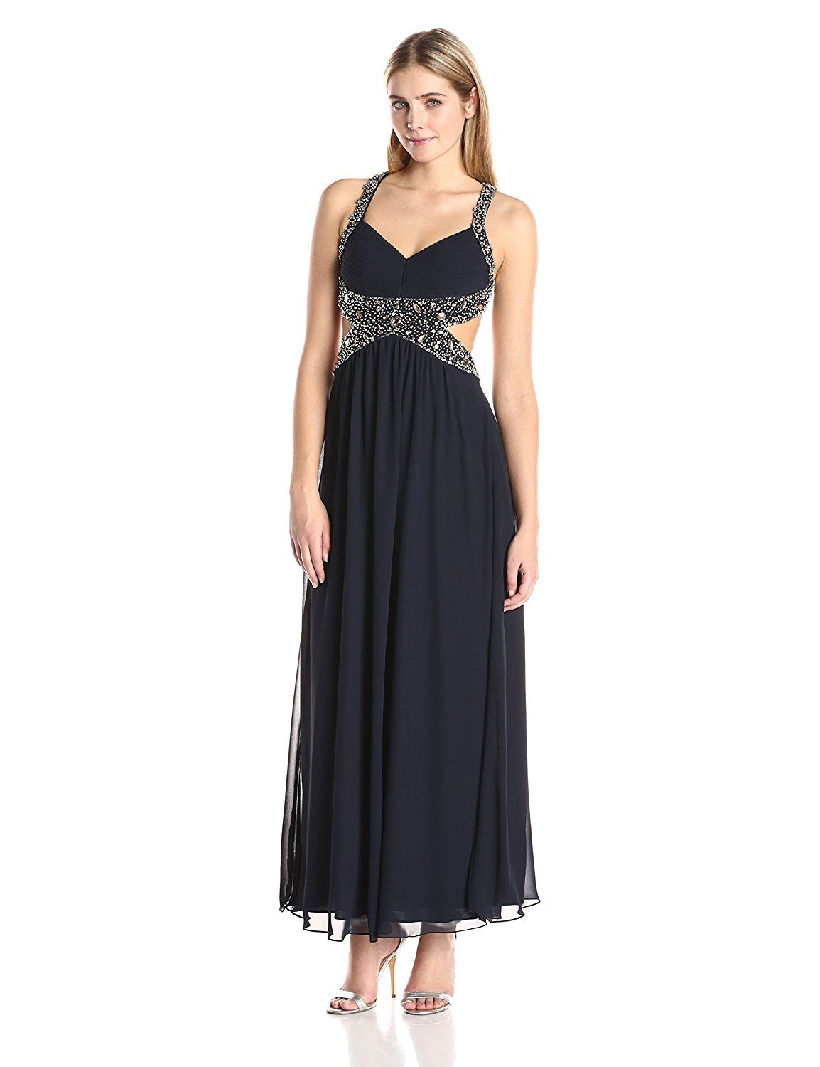 39330161125 Betsy and Adam Women s Open Back Criss Prom Gown     Review more details  here   Dresses Sale