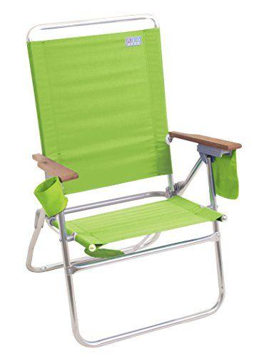 Rio Brands Hi Boy Beach Chair Lime Green The Hi Boy Beach Chair Sits 17 Inch Off The Ground Almost Double Folding Beach Chair Beach Chairs Camping Chair