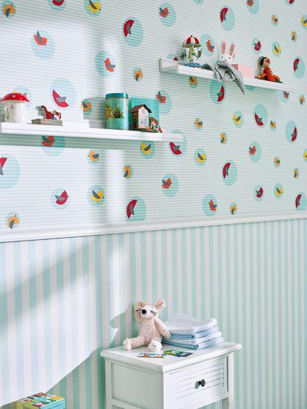 Las combinaciones de papeles pintados en estancias infantiles estan mas de moda que nunca,aqui un claro ejemplo que por cierto nos encanta https://papelvinilicoonline.com/es/195-esprit-kids-4
