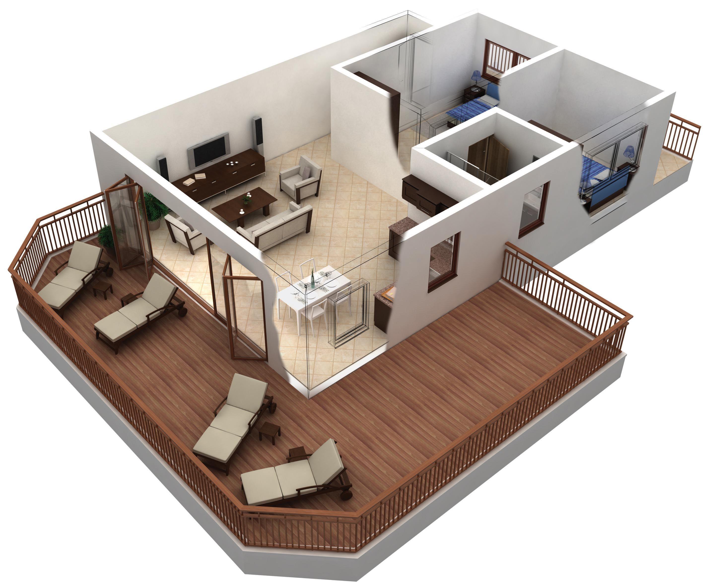 Kostenlose 3D-Apartment-Plan - linearsystem.co - Home Design Ideen ...