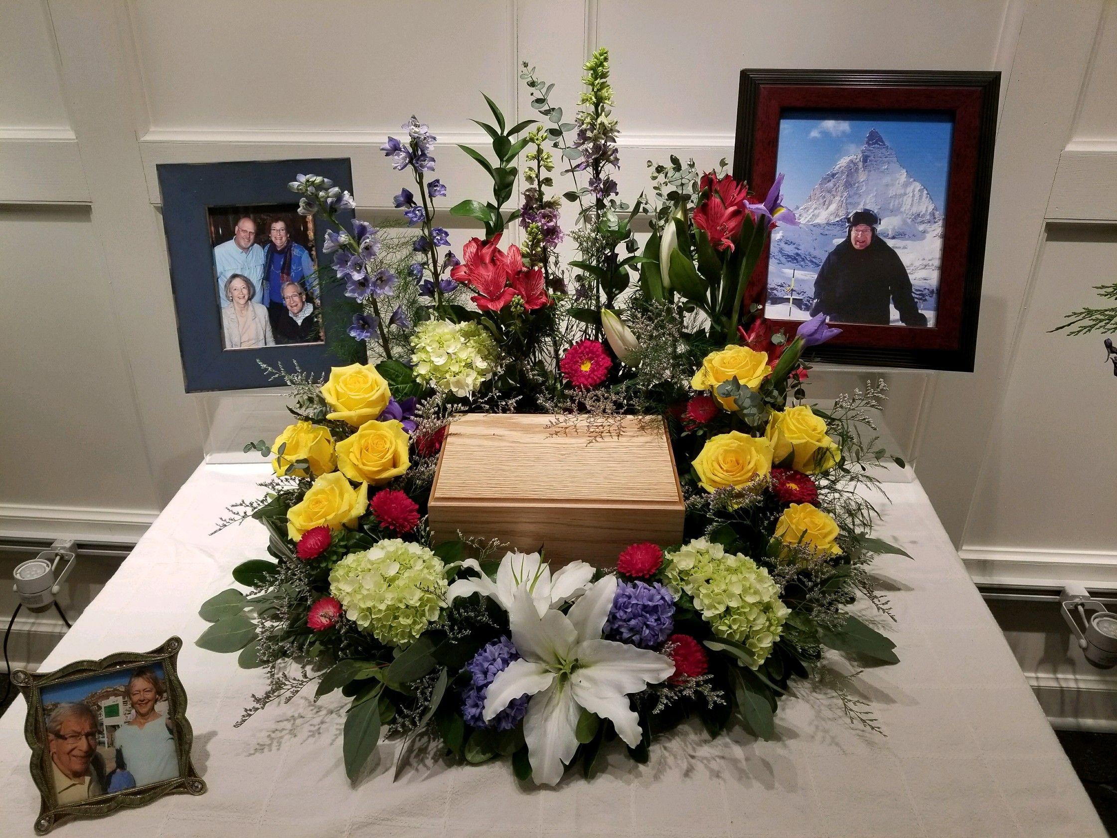 Wreath For Cremation Urn Funeral Urn Arrangements Funeral