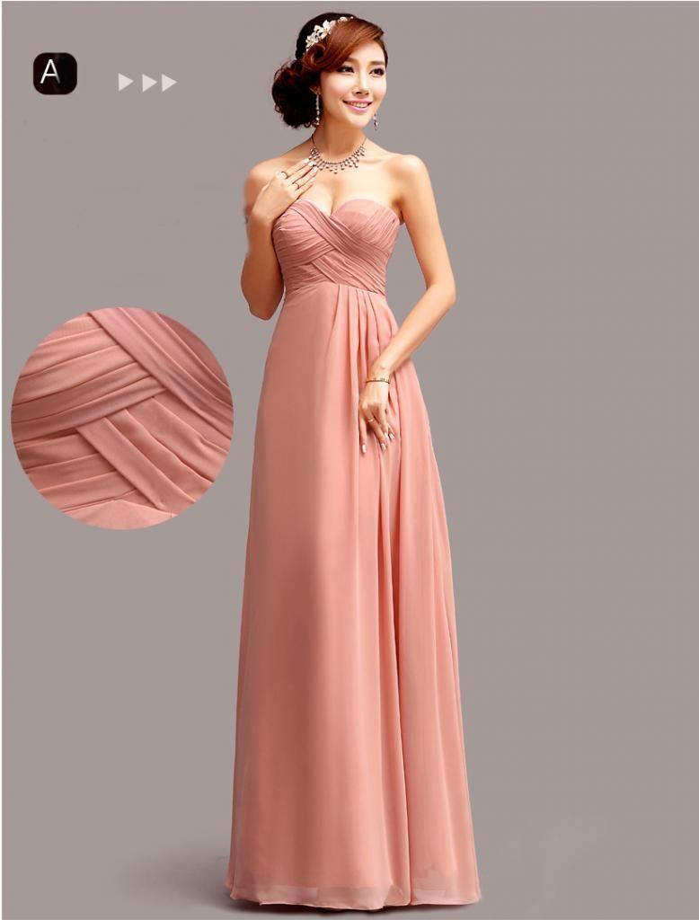 Women bridesmaid wedding prom ball evening graduate long maxi dress