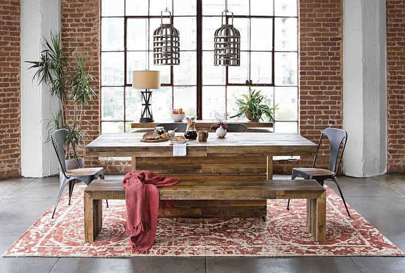 Tahoe Ii 89 Inch Dining Table Natural Living Spaces Living