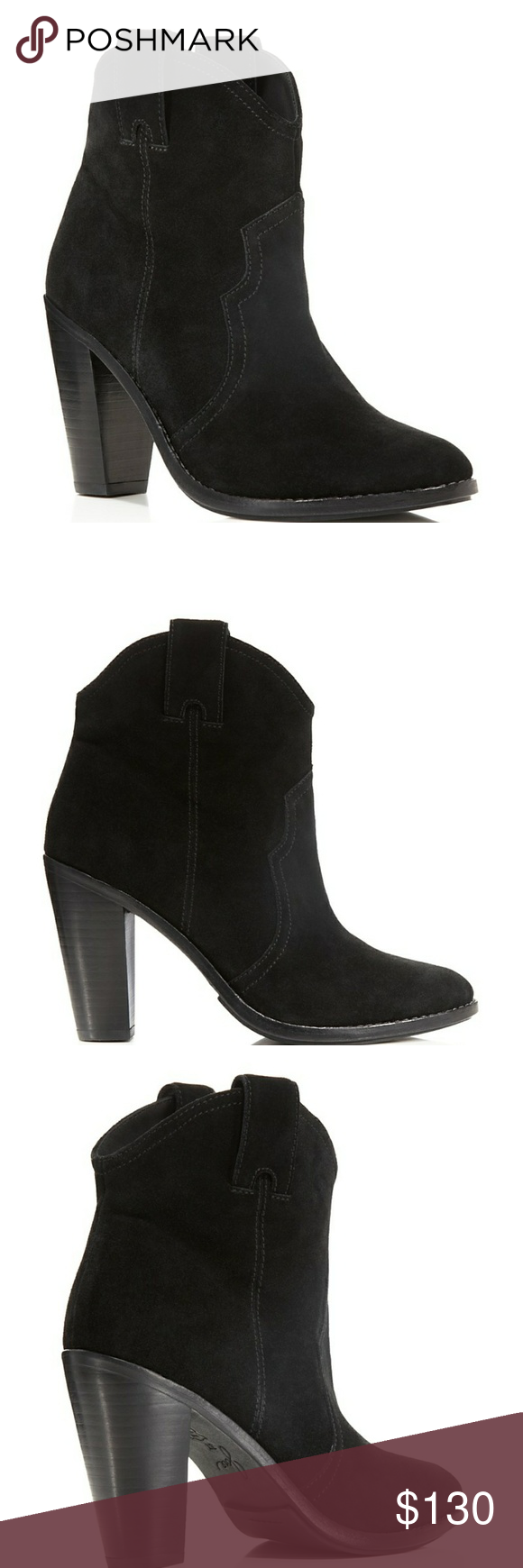 Joie brand black booties with heel size which is equal to  according   chart also nwot monte western mid my posh picks rh pinterest