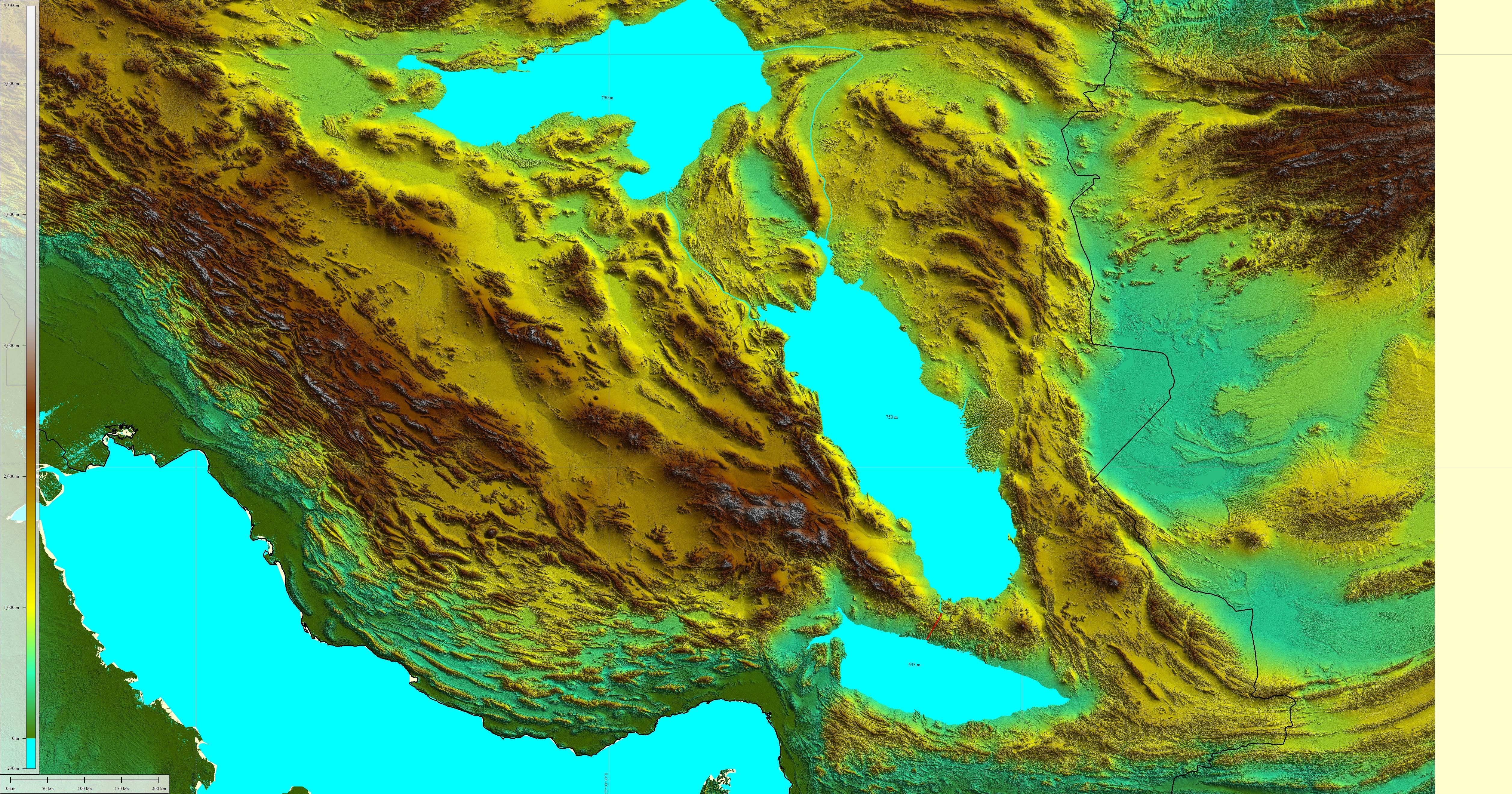 Image result for Iran topology map Image