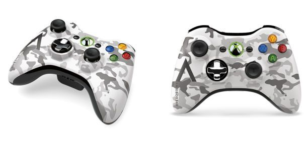Arctic Camouflage Xbox 360 Controller Unveiled Xbox 360 Controller Xbox Wireless Controller Xbox 360