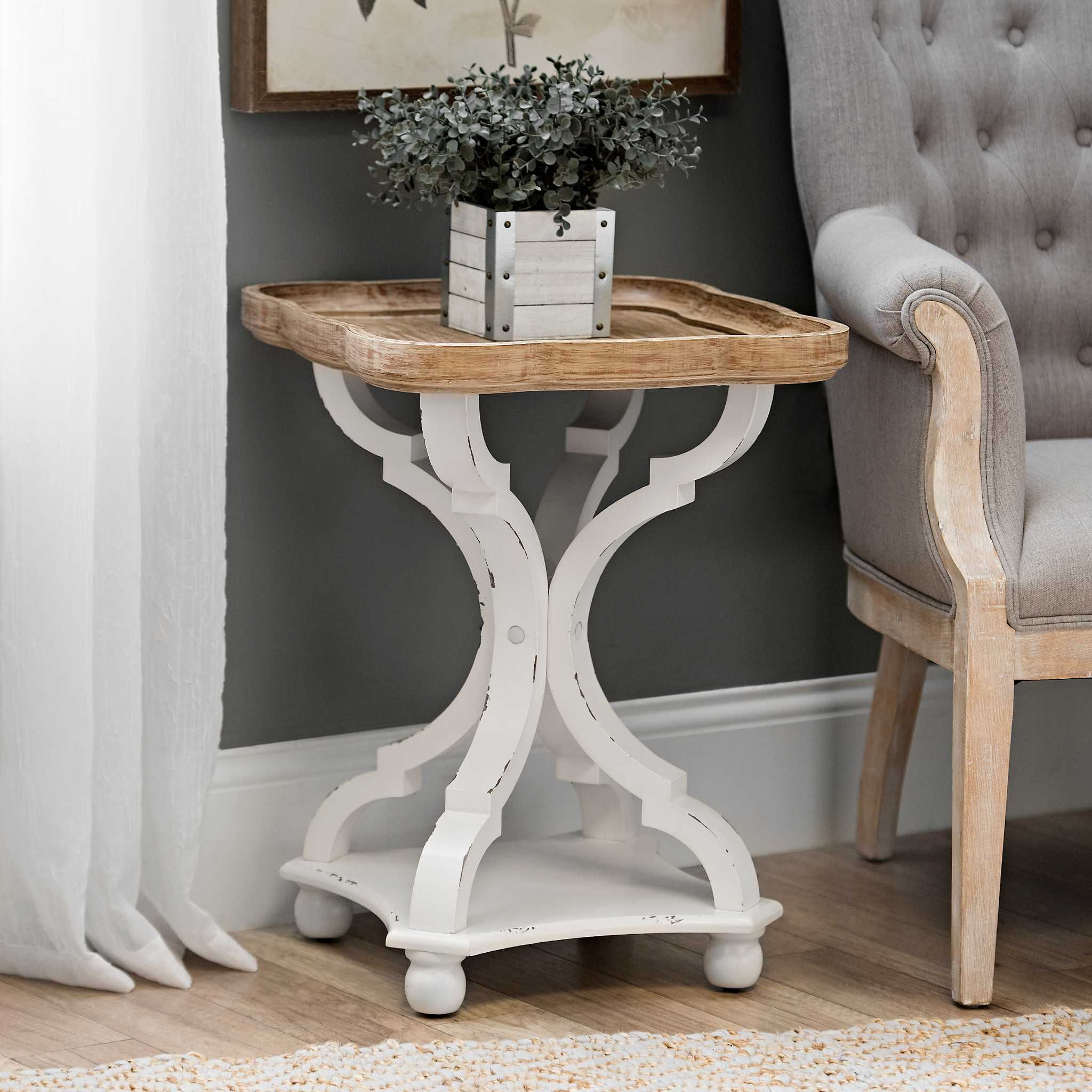 Product Details Corina Scalloped Accent Table in 2019 | {Home ...