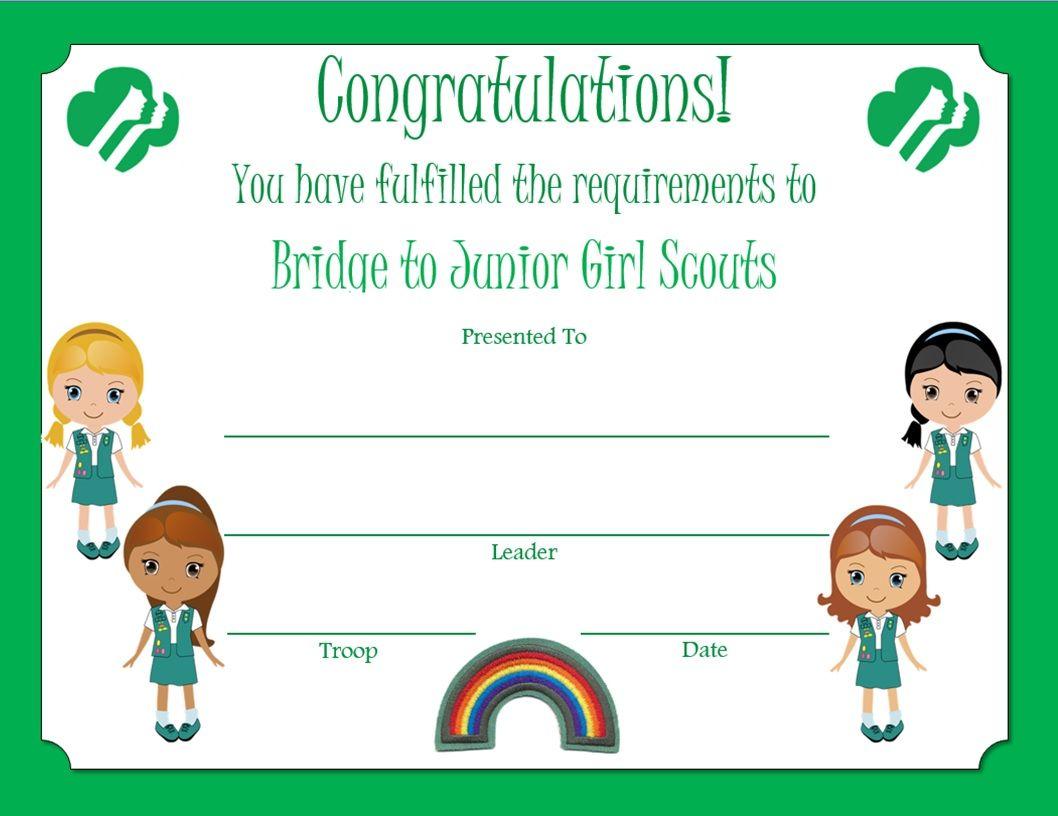 Brownie bridge to junior award certificate httpmedia cache brownie bridge to junior award certificate httpmedia cache yadclub Image collections