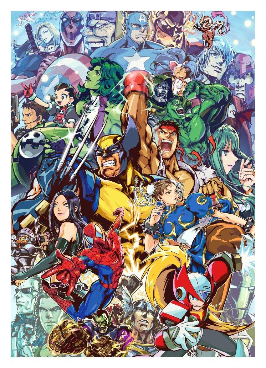 Marvel Vs Capcom Capcom Art Marvel Vs Capcom Capcom Vs