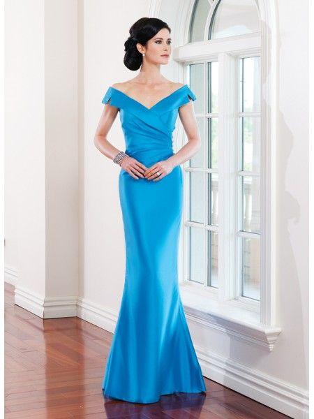 Stylish Blue Mermaid Off-the-Shoulder
