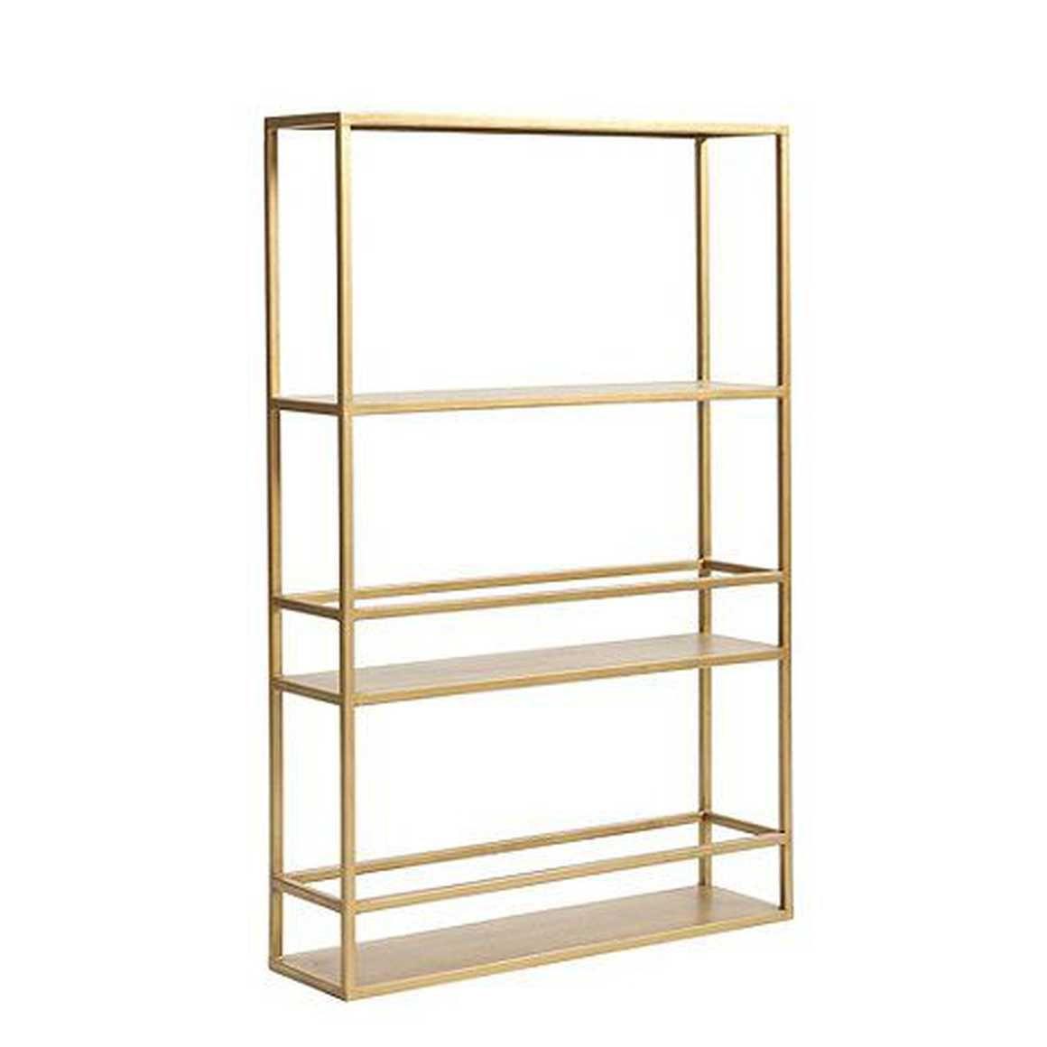 Abbott Slim Shelf Gold By Ballard Designs Shelves Bar Furniture Bathroom Wall Shelves