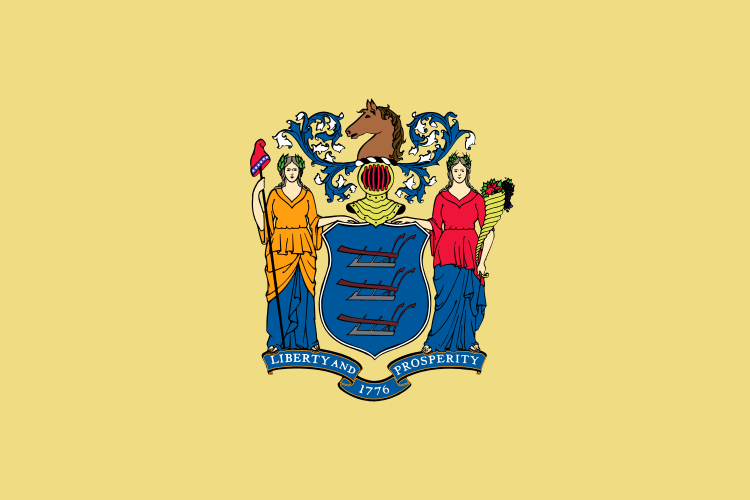 New Jersey State Information Symbols Capital Constitution - Us state flag map
