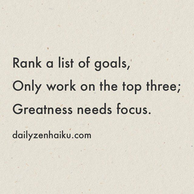 list of goals for work