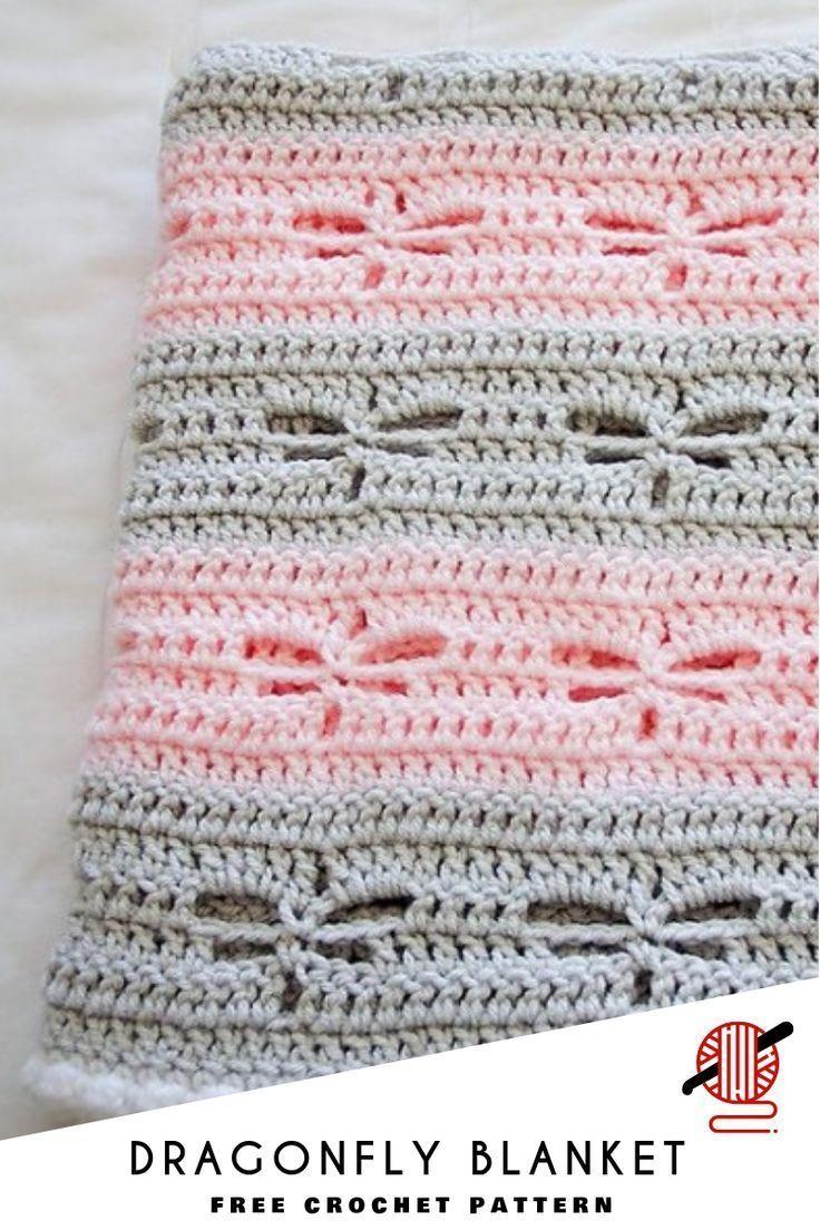 Photo of Libelle häkeln Decke [FREE]. Diese Libelle gehäkelte Decke … – Baby Diy – Handwerk