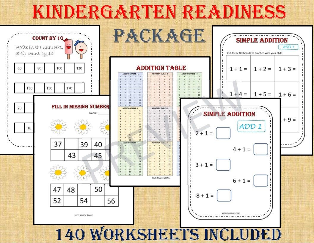 Kindergarten Workbook 140 Worksheets Instant Download