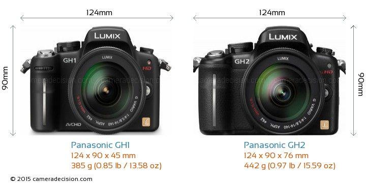 Panasonic Gh1 Vs Panasonic Gh2 Camera Size Comparison Front View Panasonic Panasonic Lumix Comparison