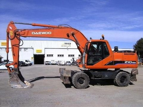 Daewoo Doosan Solar 210w V Wheel Excavator Service Shop Repair Manual Repair Manuals Daewoo Excavator