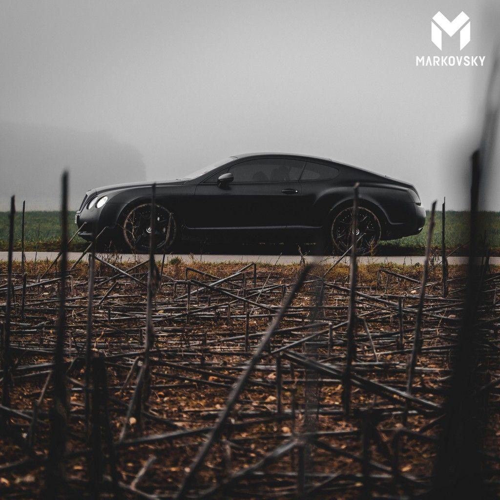 Matte Black Bentley Continental Photoshoot