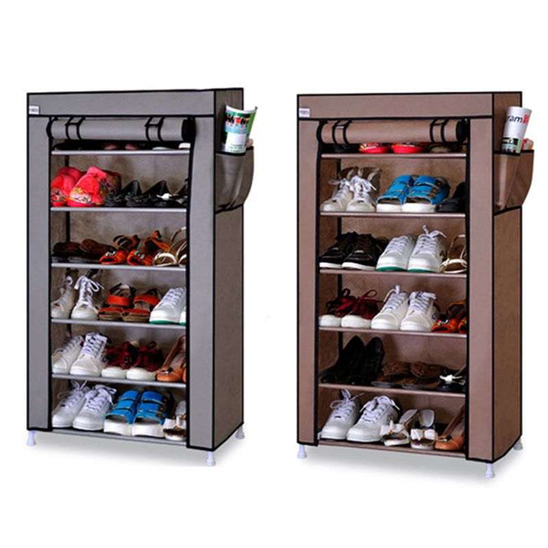 Seven Layers Six Grid Thick Non Woven Simple Shoe Cabinet Dustproof Creative Diy Assembly Storage Shoe Rack Shoe Orga Shoe Cabinet Shoe Rack Shelf Organization