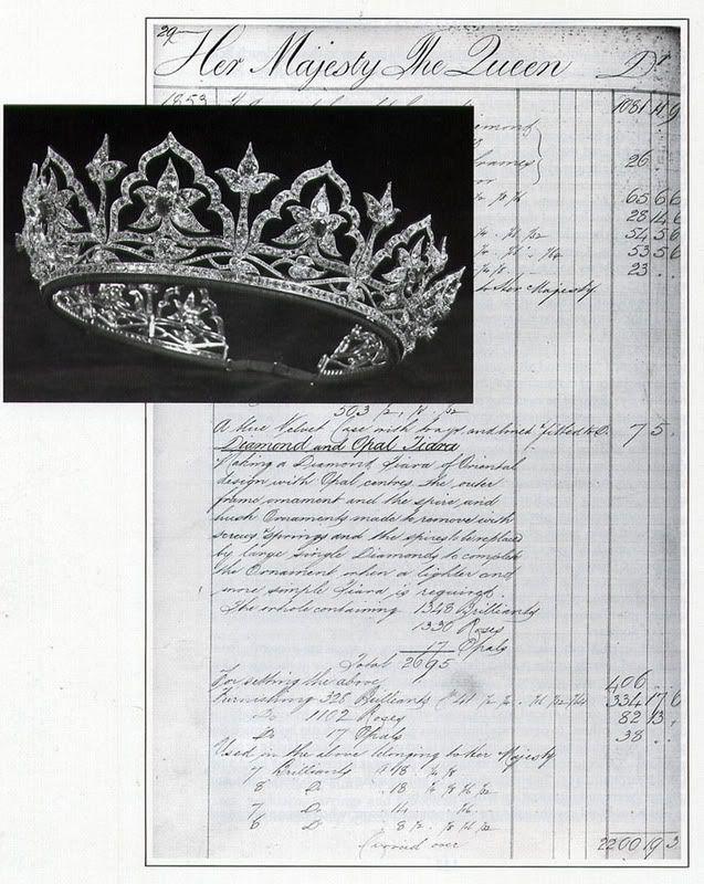 The Garrards invoice for Queen Victoriau0027s oriental circlet, 1853 - book invoice