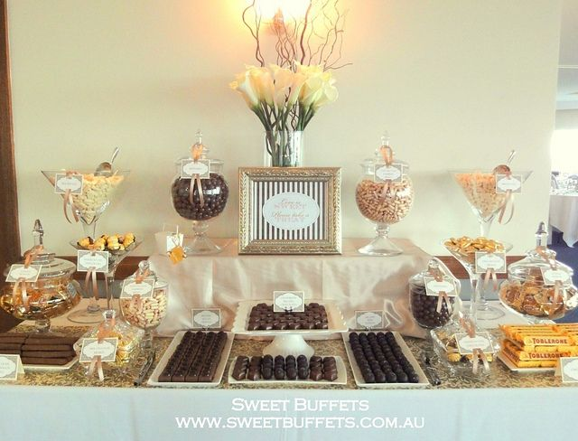 Cheap Wedding Ideas Melbourne: Gold And Chocolate Wedding Lolly Buffet