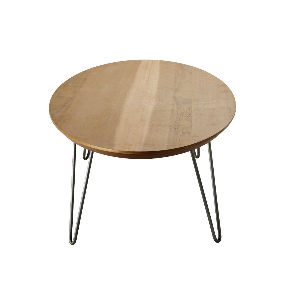 Oval Coffee Table With Grey Metal Legs Luciano Maisons Du Monde Couchtisch Tisch Metall