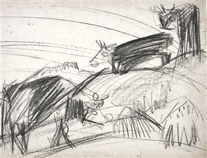 Kühe von Ernst Ludwig Kirchner