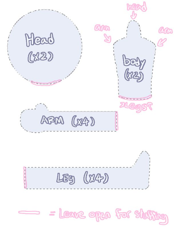Simple doll pattern by NightMargin.deviantart.com on @DeviantArt