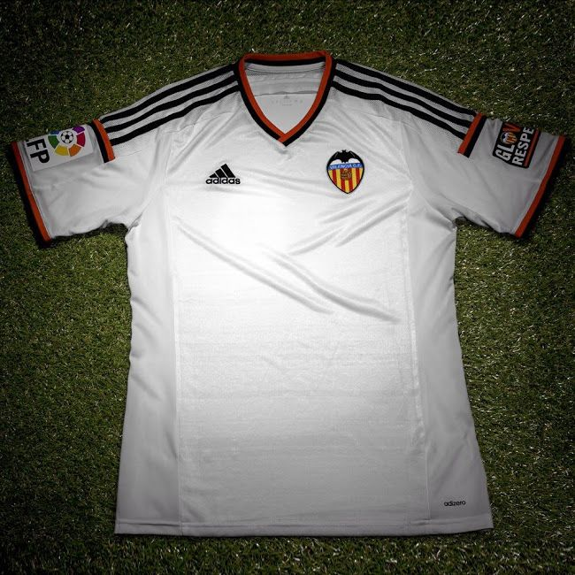 watch e162a f9c3d Adidas Valencia 14-15 Home Kit | Soccer clubs Kits | Soccer ...