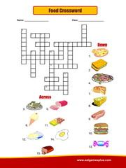 Food Crossword Puzzles For Kids Kids English Worksheets For Kids