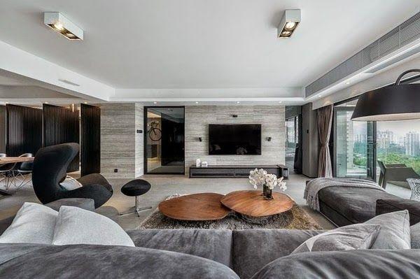 Sala grande moderna hogares dise os de salas modernas for Diseno de salas pequenas