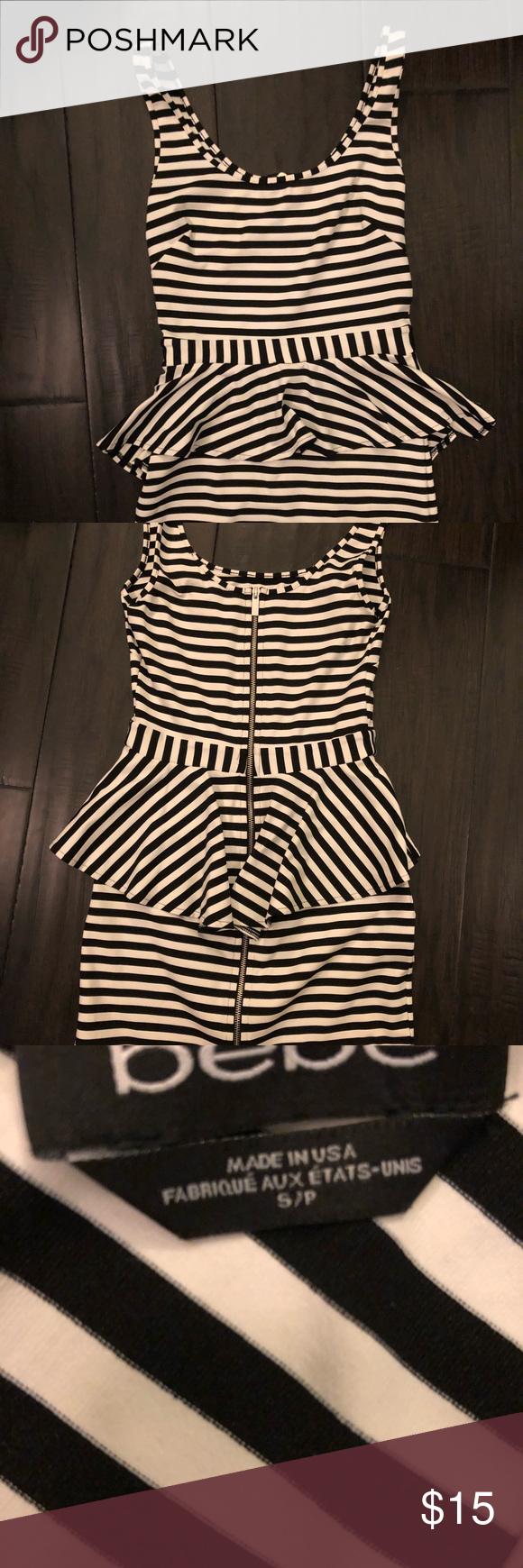 46++ Bebe striped peplum dress ideas in 2021