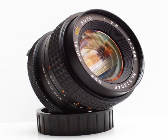 Vintage Focal F 2 8 28mm Minolta Md Mount Prime Wide Angle Vintage Lenses Wide Angle Canon Dslr Camera