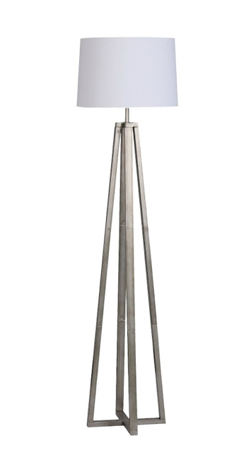 Threshold Brushed Silver Linear Shaded Floor La Target Iluminacao Planejamento