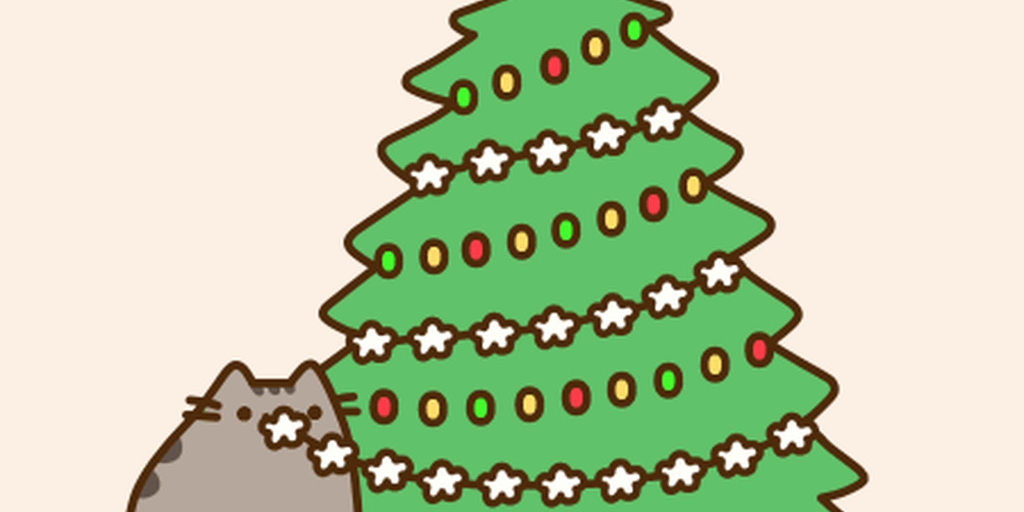 Image Result For Pusheen Desktop Wallpaper Christmas