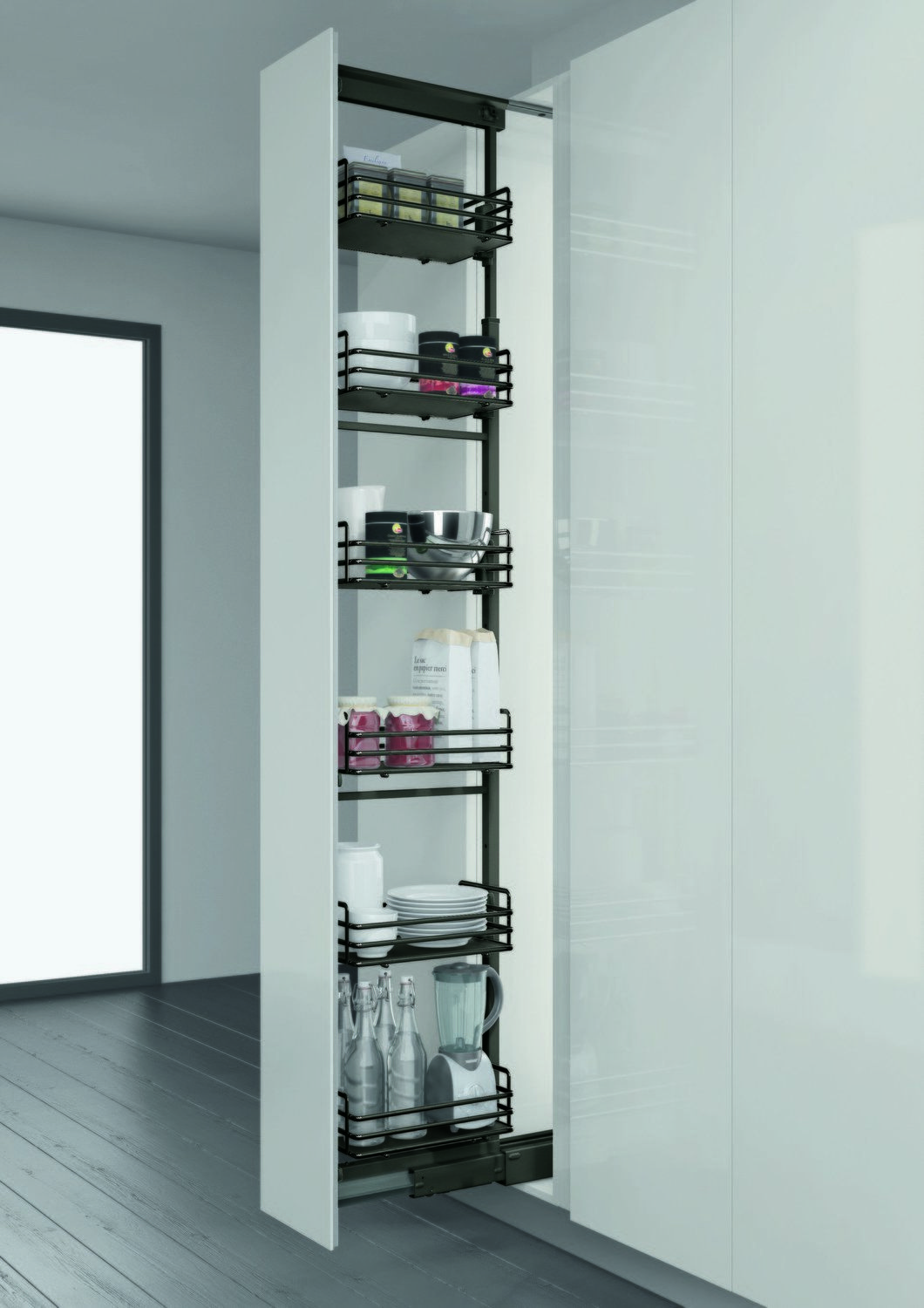 Elite Tall Larder Unit - 300mm | Wirework Storage | Pinterest ...