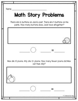 Pin By Primary Made Perfect On First Grade Math Word Problems Addition Worksheets First Grade First Grade Words