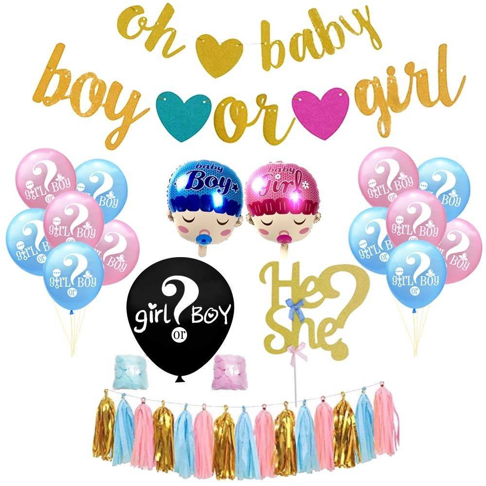 Gender Reveal Party Decor Baby Shower Banner Cute Pregnancy Announcement Oh Baby Banner Baby Photoshoot Baby Shower Party Decorations