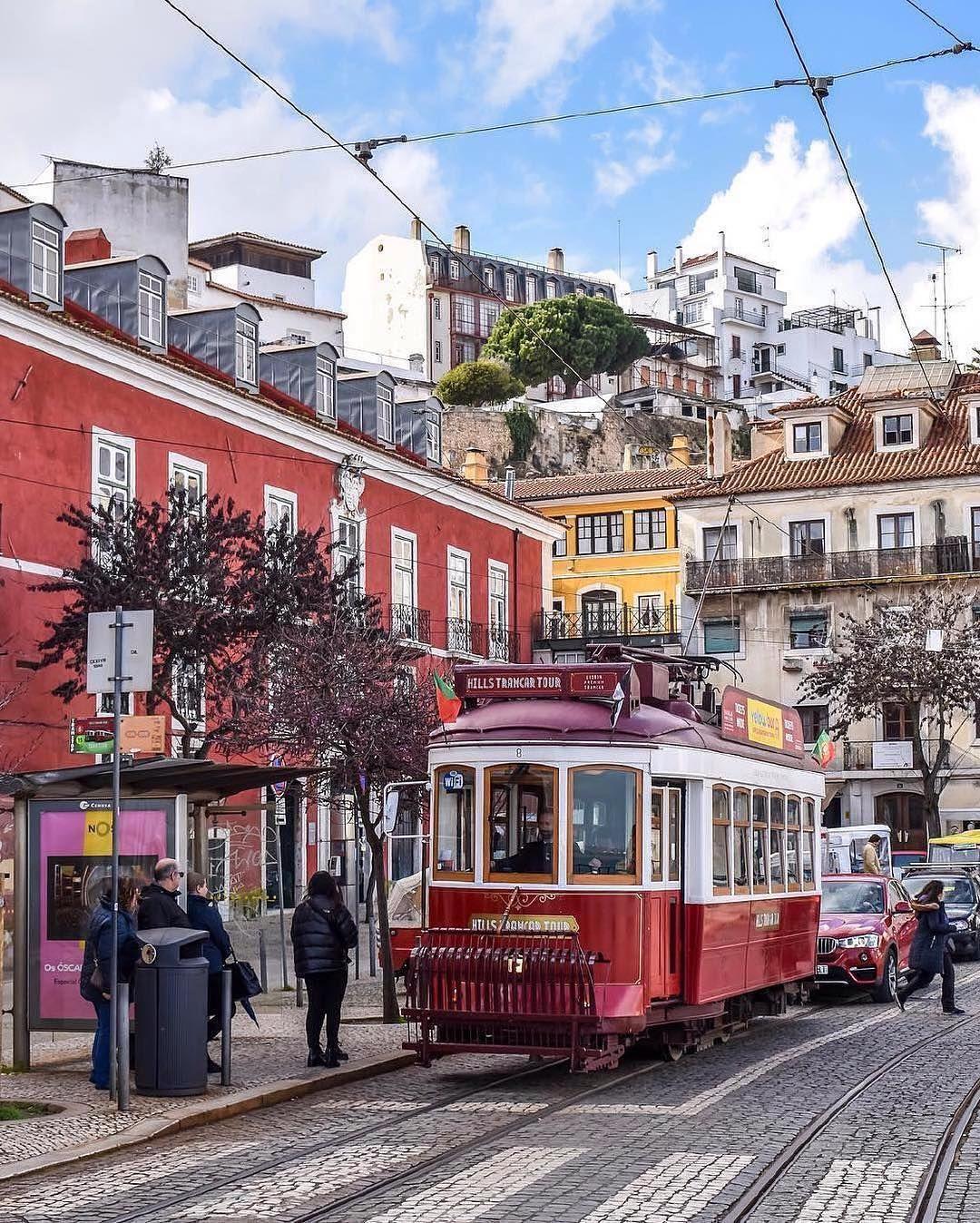 Urban railway Alfama, Lisboa, Portugal. Photo by