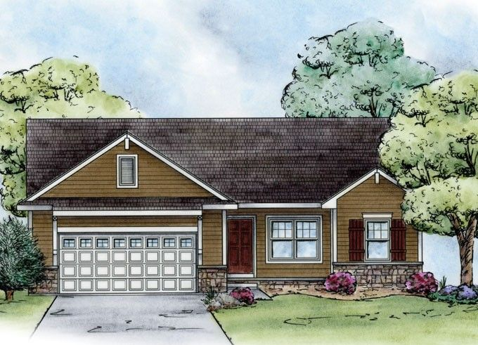 Craftsman Style House Plan 3 Beds 2 Baths 1265 Sq Ft Plan 20 2182 Ranch House Plans Craftsman Floor Plans Craftsman House Plans