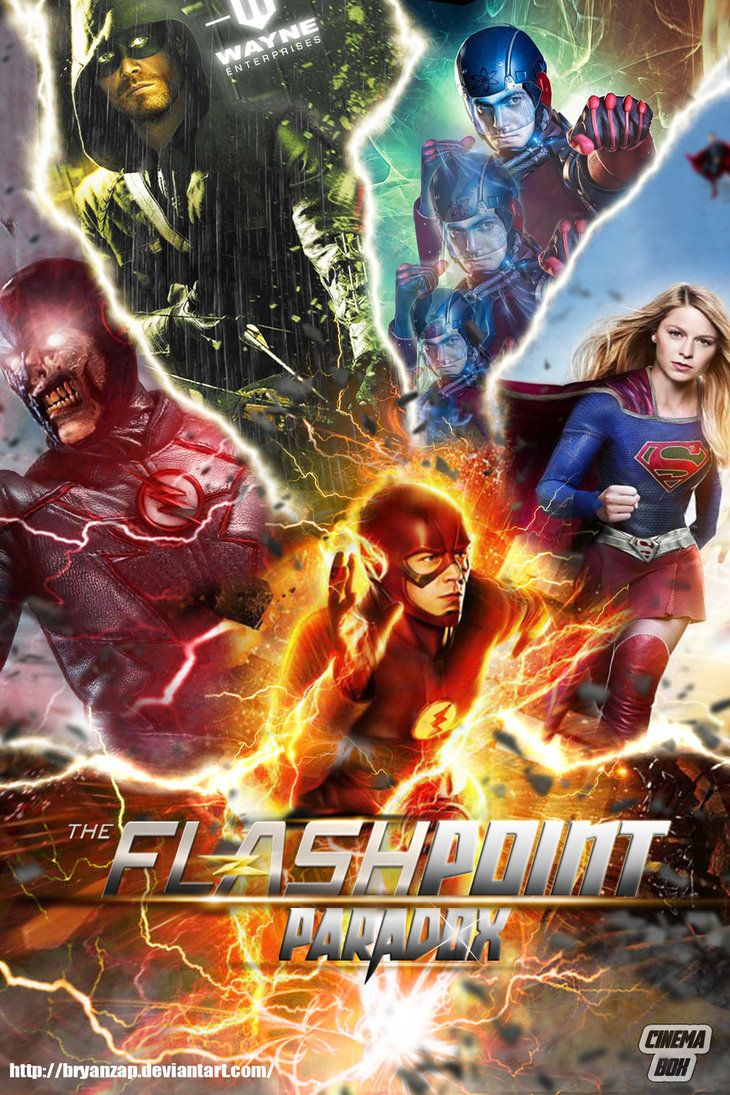 The Flash Cw Flashpoint Paradox Fan Poster By Bryanzap Supergirl And Flash The Flash Poster Flash Arrow
