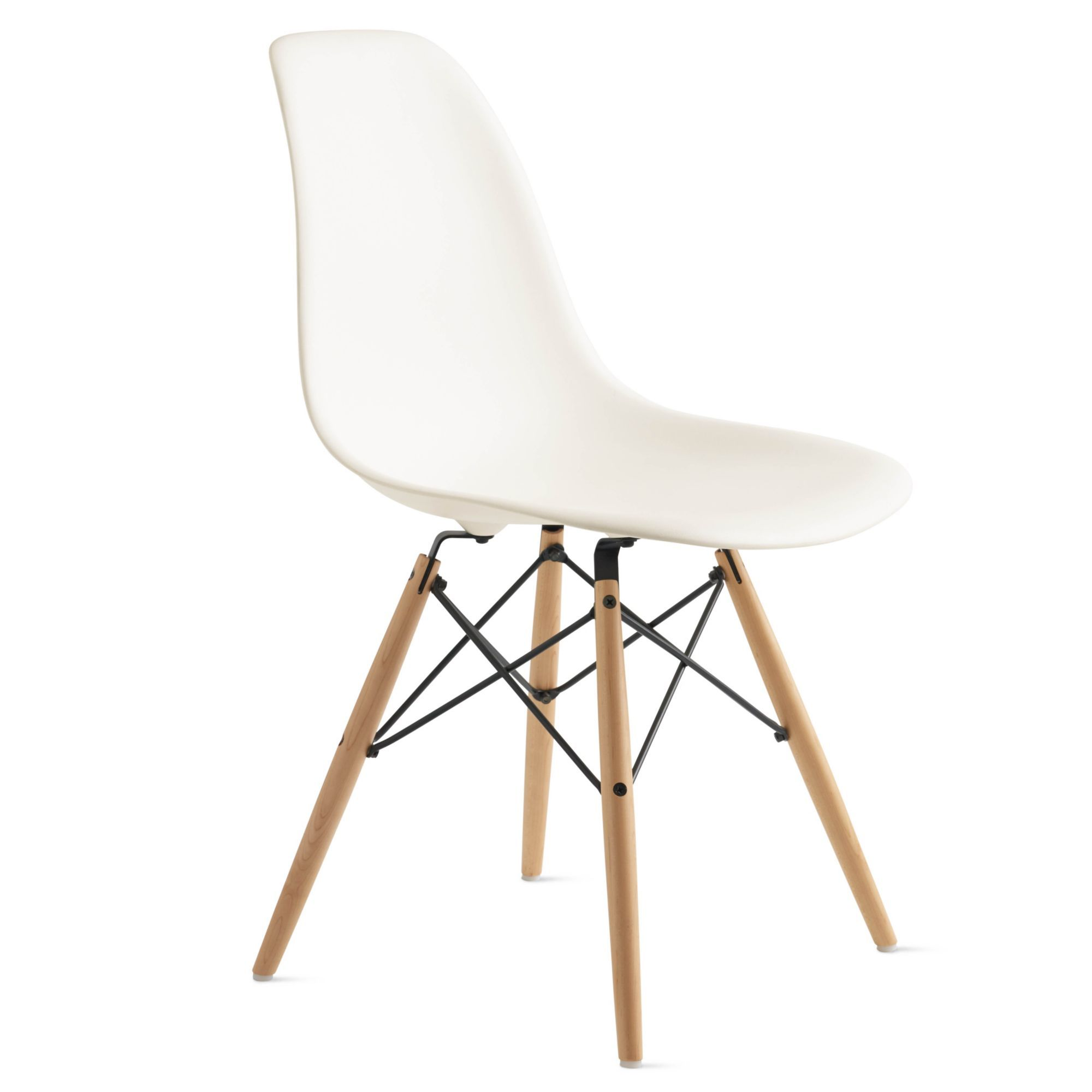 Eames Molded Plastic Dowel Leg Side Chair Dsw With Images Eames Molded Plastic Side Chair Side Chairs Dining Chair Slipcovers
