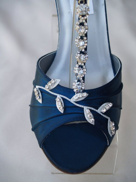 Blue Wedding Shoes Navy Blue with