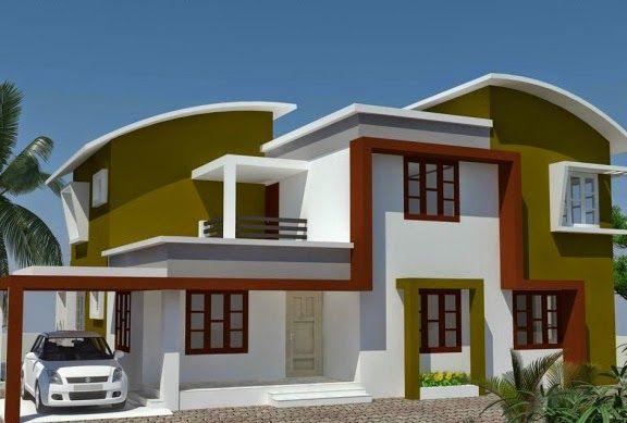 Desain Rumah Modern Minimalis Atap Lengkung Griya Indonesia Kerala House Design House Kerala House